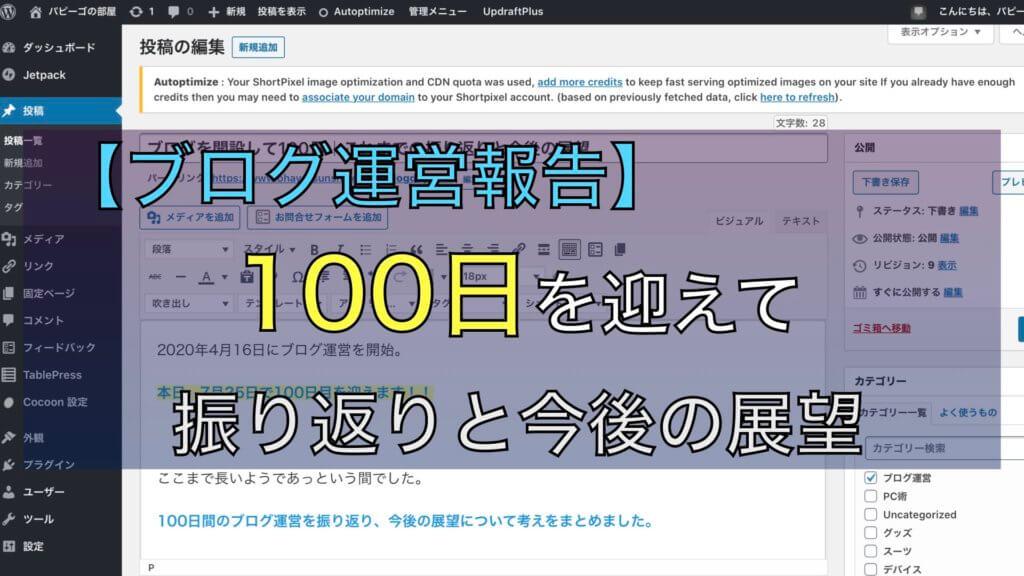 【ブログ運営報告】100日をむかえてのサムネイル画像